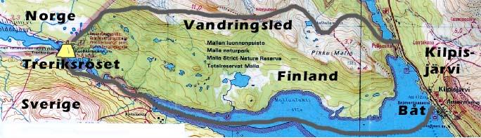 treriksröset karta Välkommen till Karesuando.se treriksröset karta